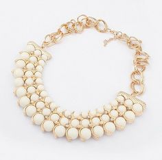 Comely Bohemia Style Crystal Bead Choker Necklaces