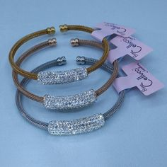 Stainless steel  bracelets available in 3 colors : Cellucci Jewellery collection♡♡