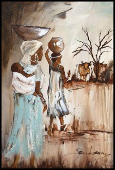 Oil Painting - Walking with Noni by Jen Adam