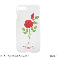 Red Rose Clear iPhone 7 Case