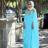 The Athena Kaftan in Sea Blue- gorgeous! #eid #kaftan #caftan