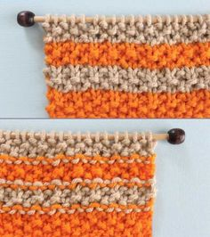 Right and Wrong Sides of Seed Knit Stitch Pattern with Stripes. How to Remove Purl Dash Lines - Knit Stripes with Studio Knit Right and Wrong Sides of Seed Knit Stitch Pattern with Stripes. How to Remove Purl Dash Lines - Knit Stripes with Studio Knit Deep Cleaning Tips, House Cleaning Tips, Cleaning Hacks, Changing Colors In Knitting, Knitting Stitches, Knitting Patterns, Knitting Tutorials, Knitting Humor, Sock Knitting
