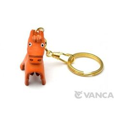 GENUINE 3D LEATHER HORSE KEYCHAIN (CHINESE ZODIAC) MADE BY SKILLFUL CRAFTSMEN OF VANCA CRAFT IN JAPAN. #handmade #keyfob #gift #unique #art #design #cute