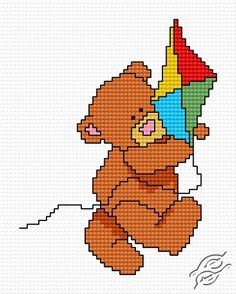 FREE PATTERNS - Animals - A Kite - Gvello Stitch