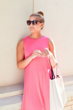 little pink dress - Fashionably Lo