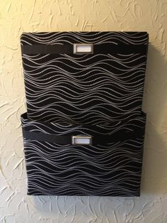 Items similar to Fabric Wall Pockets with two pockets / ideal as a mail organizer, magazine holder or file folder organizer. Black and white pattern on Etsy File Folder Organization, Classroom Organization, Organizing, Hanging File Folders, Hanging Files, Magazine Holders, Wall Pockets, White Patterns, Getting Organized