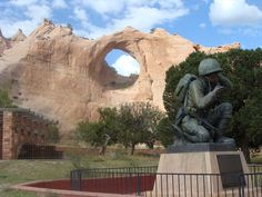 Window Rock and the Codetalkers Memorial