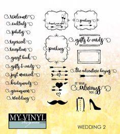 DIGITAL DOWNLOAD ... Wedding vectors in AI, EPS, GSD, & SVG formats @ My Vinyl Designer #myvinyldesigner