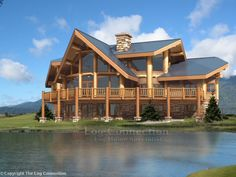 - Yvonne Dekor Home Mountain Dream Homes, Mountain Cabins, Log Home Designs, Lake Cabins, Log Cabin Homes, Architecture, Nice View, My Dream Home, Future House