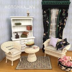 🤶🏻I'm a miniature maker, I love to create wicker furnitures and accessories for dollhouses, roomboxes and dioramas.  In scale 1:12 and 1:6.  @KOTOMKA_NV #kotomka_NV #wickerminiature   #длякукол #wickerfurniture #Pin #игрушечнаямебель #дивандлякукол #дивандляигрушек #мебельдлябарби #креслодлякукол  #wickerchair #wickerrockingchair #wickerbench #wickerottoman #wickercouch #wickeresofa