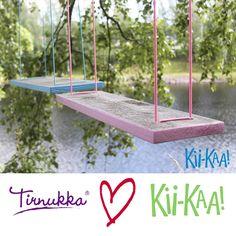 Kesä 2014 Kii-Kaa! keinut neljässä värissä (vaal.pun, vaal.sin, keltainen & lime)