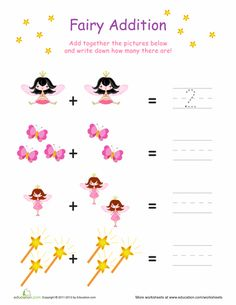 Worksheets: Simple Fairy Addition