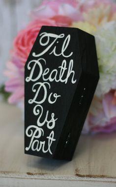 tot de dood ons scheidt #alternatief #ringkussen @WomenWantsNL