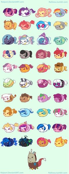 updated version of last year's My Little Chubbies These will be little stickers for this year's MLP conventions that I will be attending ! Please do not remove my signature, crop or resize the ima. Dessin My Little Pony, My Little Pony Drawing, Mlp My Little Pony, My Little Pony Friendship, Kawaii Drawings, Cute Drawings, My Little Pony Wallpaper, Little Poni, Imagenes My Little Pony
