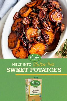 Sweet on sweet potatoes? This comforting recipe made with our Organic Low Sodium Chicken Broth never disappoints. Get the Recipe. Side Dish Recipes, Vegetable Recipes, Vegetarian Recipes, Dinner Recipes, Cooking Recipes, Healthy Recipes, New Recipes, Easy Recipes, Recipies