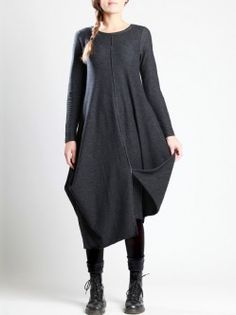 MARL KNITTED COTTON-POLYESTER DRESS