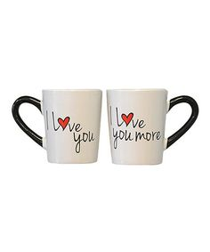 Look what I found on #zulily! 'I Love You' Mug - Set of Two #zulilyfinds