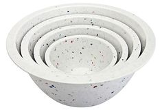 Set of 4 Assorted Confetti Bowls, White on OneKingsLane.com