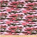 French Terry Knit Camo Pink/Green