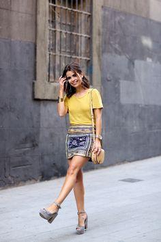 Collage VintageCamiseta/Top:Zara; Falda/Skirt:Zara; Pendientes/Earrings:Zara,HERE; Pulsera/Bracelet:Asos (Old, similar HERE), Reloj/Watch:Nixon,HERE; Sandalias/Sandals:Collage Vintage x Krack (Soon on store), Bolso/Bag:Rebecca Minkoff,HERE;