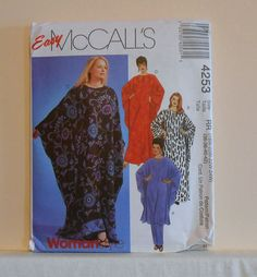 McCall's 4253 Womens Caftan and Pants Plus Sizes 18 by filecutter, $3.25