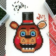 Bildresultat för five nights at freddy's perler beads