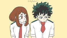 One shot Izuocha Boku No Academia, My Hero Academia Shouto, Hero Academia Characters, Anime Characters, Anime Couples, Cute Couples, Asui Boku No Hero, Deku X Uraraka, Hero Wallpaper