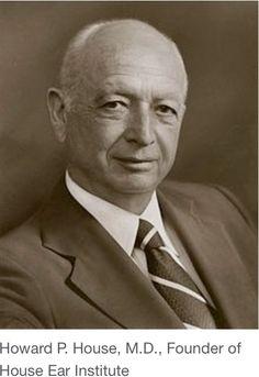 """Howard House (Kansas City 1908 🇺🇸 2003 Los Ángeles). Fundador de la prestigiosa Clínica House en 1946 junto a su hermano William, pionera en la Otologia americana para el tratamiento de la hipoacusia. Diseñó la """"wire loop prosthesis"""" para la otosclerosis."""