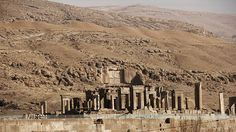 """Persepolis, literally meaning """"city of Persians"""", was the ceremonial capital of the Achaemenid Empire (ca. 550–330 BCE). Persepolis is situated 60 km northeast of city of Shiraz in Fars Province in Iran. The earliest remains of Persepolis date back to 515 BCE."""