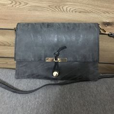 Charcoal crossbody bag Brand new. Super cute! Can dress up or down.. Long strap is adjustable. Francesca's Collections Bags Crossbody Bags