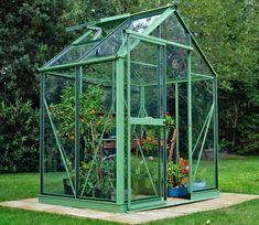 Evika Greenhouse Pale Green 6 x 4 ft
