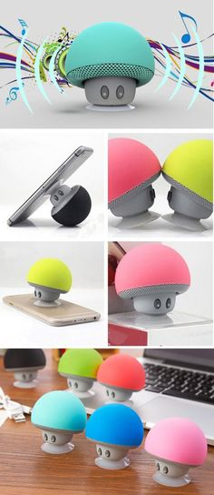 Level up the way you listen to music with these cute mushroom speakers! Features a suction cup design that easily sticks onto any smooth surface, including windows, walls or the back of your phone so it can double up as a nifty stand. Super Mario Bros, Tsumtsum, Mario And Luigi, Cool Inventions, Cup Design, Geek Gifts, Cool Gadgets, Cool Gifts, Techno