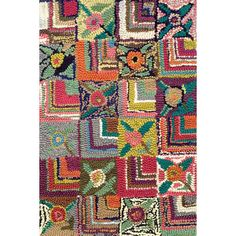Dash and Albert Rugs Hooked Gypsy Rose Rug $620