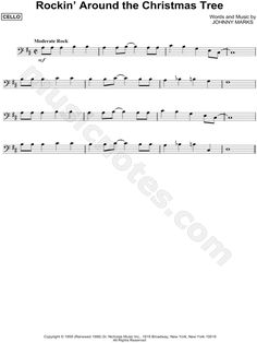Print and download Rockin' Around the Christmas Tree sheet music by Brenda Lee arranged for Cello. Instrumental Solo in D Major.