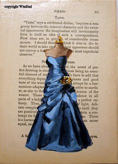 gown on antique etiquette book page  $45.  SOLD