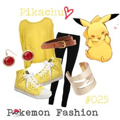 """*-""Pokemon Fashion""; Pikachu. #025.⚡"" by domonator3155 on Polyvore"