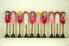 Back To School Clothespin Number Dolls Nanny Activities, Number Activities, Children Activities, Art For Kids, Crafts For Kids, Clothespin Art, Cool Mom Picks, Dancing Baby, Clothes Pegs