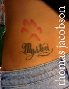 dog print tattoo - Google Search