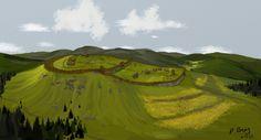 Slovanské Hradiská: Trenčianske Teplice - Čertova Skala Maps, Golf Courses, Politics, History, Historia, Blue Prints, Map, Cards