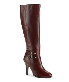 Take a look at this Cognac Umbria Buckle Boot by Arturo Chiang on #zulily today!