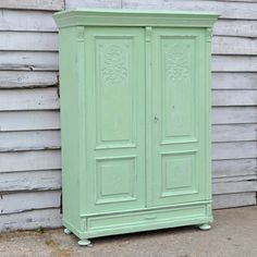 Antique Rustic Hand Painted Wardrobe painted using Chalk Paint by Annie Sloan #morethanpaint  We used Antibes and Old White 50/50