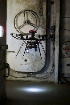 Micro-flyer drone could help a robot to fight fires on ships [Future Drones: http://futuristicnews.com/tag/drone/ Drones for Sale at Amazon: http://futuristicshop.com/tag/drone/]