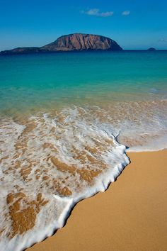 """Does the song of the sea end at the shore, or in the hearts of those who listen? ~Kahlil Gibran ~ / Beach at La Graciosa, Canary Islands by Andreas Weibel"