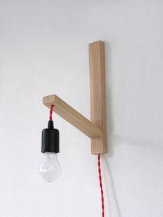 Wall lamp, minimalist wall sconce, minimal simplicity by TassoStudio on Etsy
