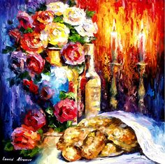 SHABBAT 2 — Palette knife Oil Painting on Canvas by Leonid Afremov - Size discount coupon - Old Paintings, Beautiful Paintings, Original Paintings, Shabbat Shalom Images, Arte Judaica, Jewish Art, Oil Painting On Canvas, Painting Art, Canvas Art