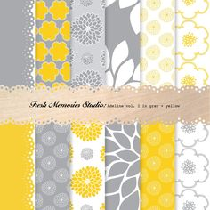 yellow + grey papers....for the invites...?