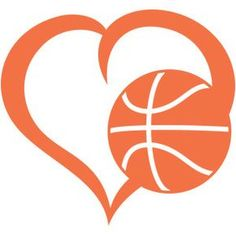 Silhouette Design Store - View Design #146546: basketball heart
