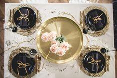 Niech się złoci! Pomysł na karnawałową odsłonę stołu w stylu glamour.