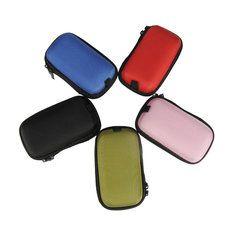 Colorido de almacenamiento caso bodega estuche bolso duro para cable de los auriculares