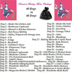 declutter list 40 bags in 40 days